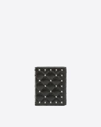 VALENTINO Rockstud Spike Compact Wallet 46516209KA