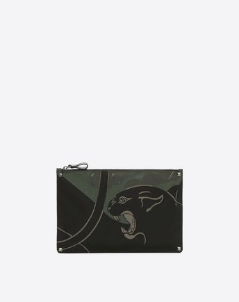 VALENTINO Bolso pouch plano Camupanther 46516212QV