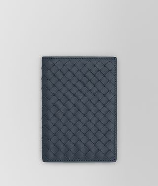 PASSPORT CASE IN DENIM INTRECCIATO NAPPA