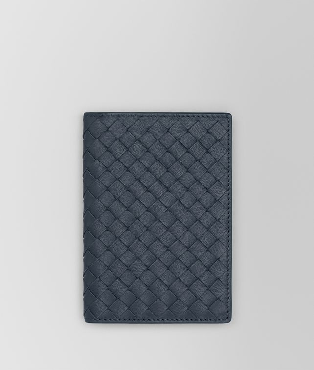 BOTTEGA VENETA PASSPORT CASE IN DENIM INTRECCIATO NAPPA Other Leather Accessory E fp