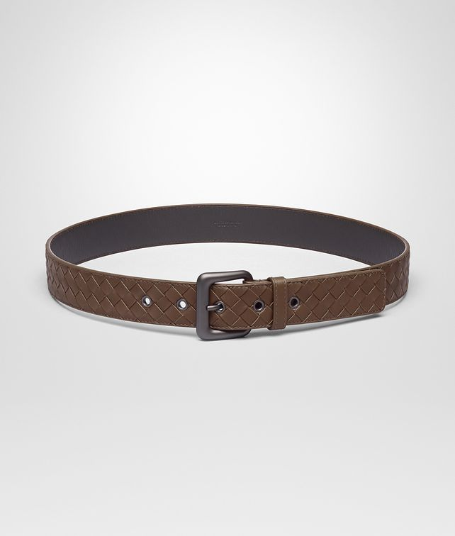 BOTTEGA VENETA BELT IN DARK CALVADOS INTRECCIATO VN Belt Man fp