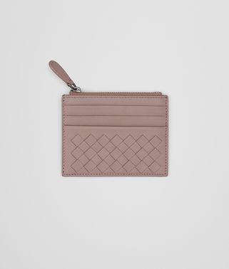CARD CASE IN DESERT ROSE INTRECCIATO NAPPA LEATHER