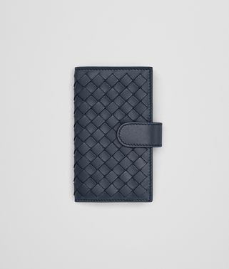 KEY CASE IN DENIM INTRECCIATO NAPPA LEATHER