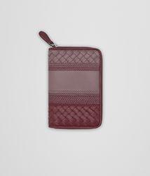 BOTTEGA VENETA Zip Around Wallet D ZIP-AROUND WALLET IN GLICINE BAROLO EMBROIDERED NAPPA LEATHER, INTRECCIATO DETAILS fp