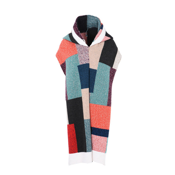 Patchwork Hooded Scarf