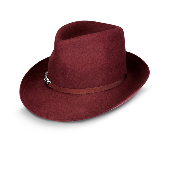 Borsalino Bordeaux in Lana