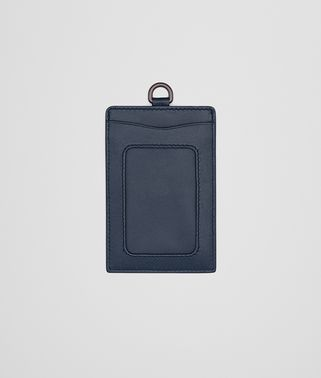 CARD CASE IN DENIM INTRECCIATO NAPPA LEATHER