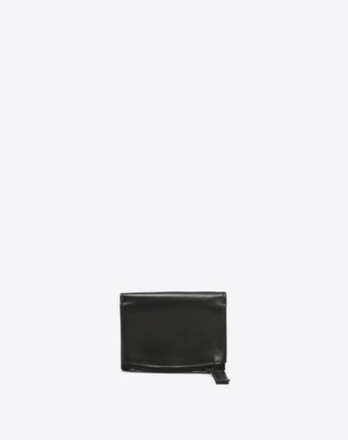 Calfskin wallet with coin pouch