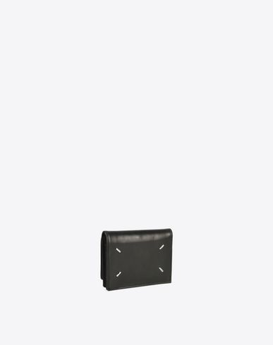 ACCESSORIES Calfskin wallet with coin pouch Black
