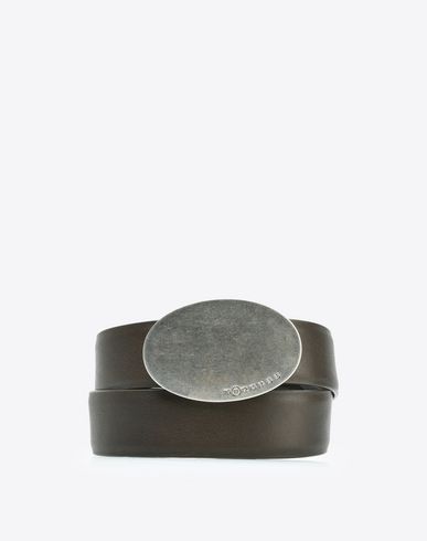 MAISON MARGIELA Belt U Calfskin belt with buckle f