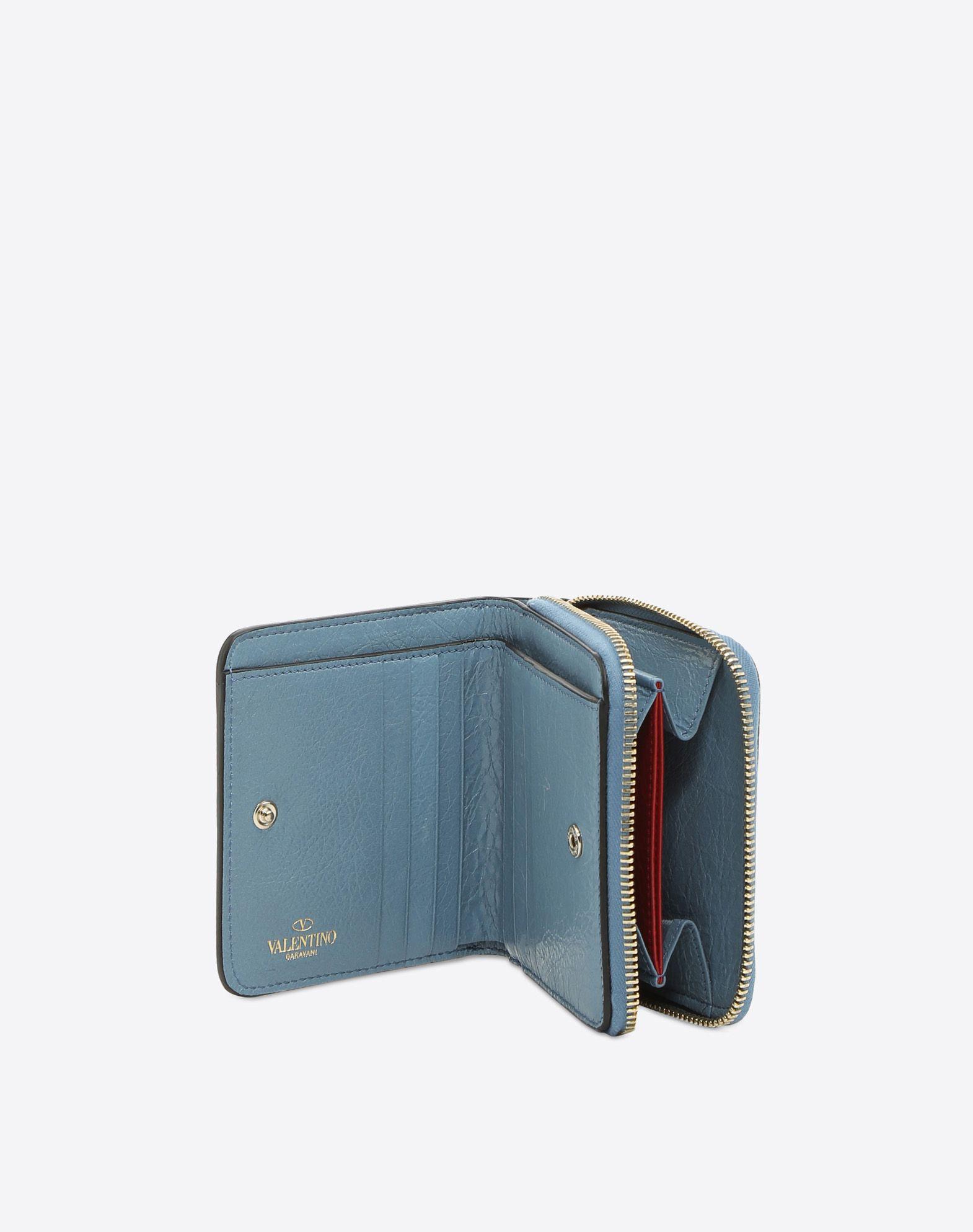 VALENTINO GARAVANI Rockstud Spike Compact 皮夹 便携钱包 D a