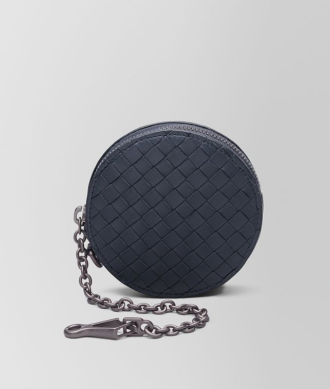 BOTTEGA VENETA KEY RING IN DENIM INTRECCIATO NAPPA Keyring or Bracelets D fp