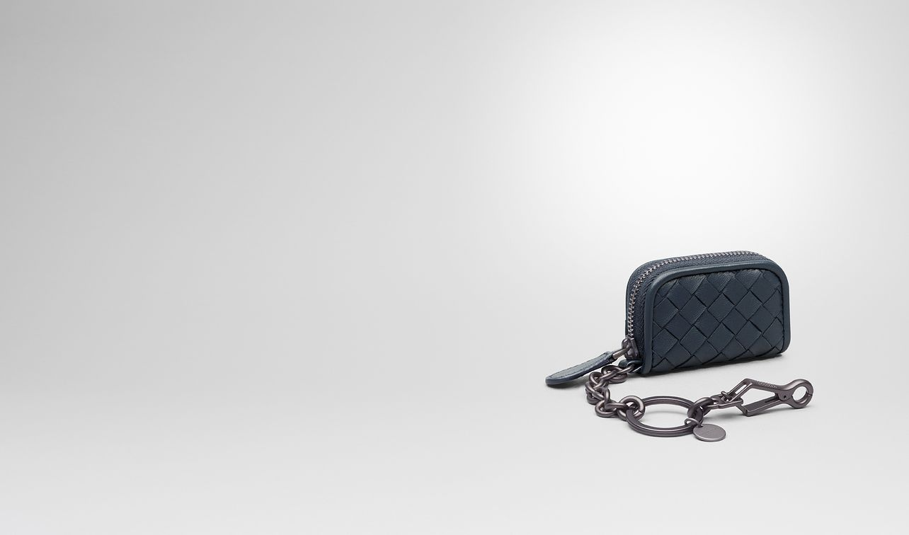 key ring in denim intrecciato nappa landing