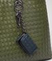 BOTTEGA VENETA KEY RING IN DENIM INTRECCIATO NAPPA Keyring or Bracelets E ap