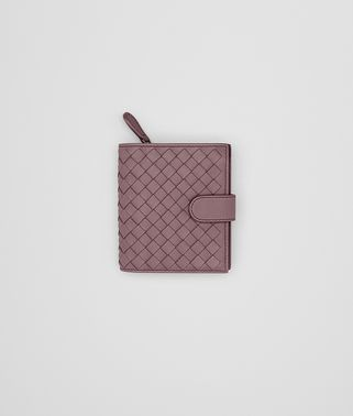 MINI WALLET IN GLICINE INTRECCIATO NAPPA LEATHER
