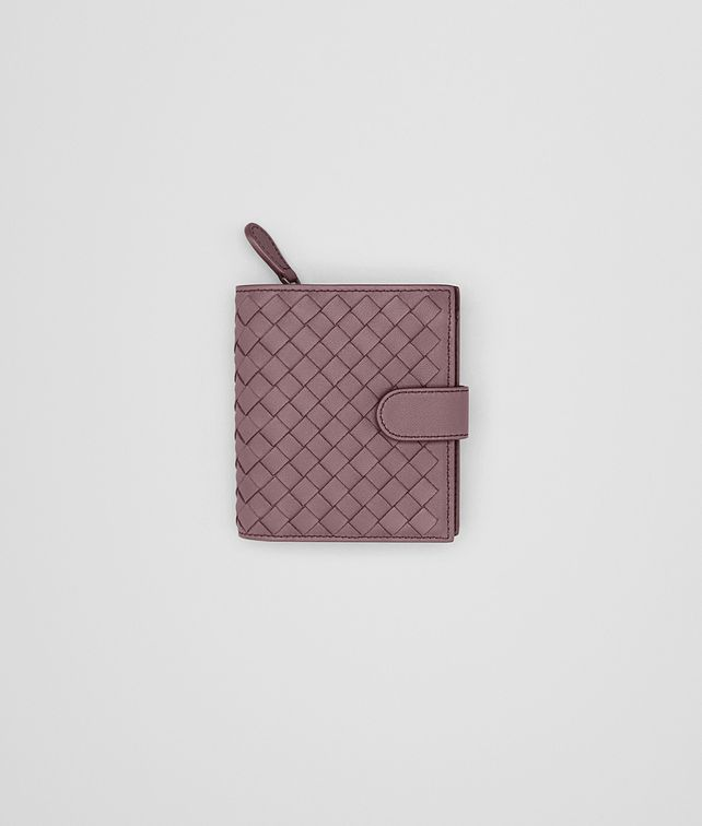 BOTTEGA VENETA MINI WALLET IN GLICINE INTRECCIATO NAPPA LEATHER Mini Wallet or Coin Purse Woman fp
