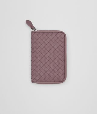 ZIP AROUND WALLET IN GLICINE INTRECCIATO NAPPA