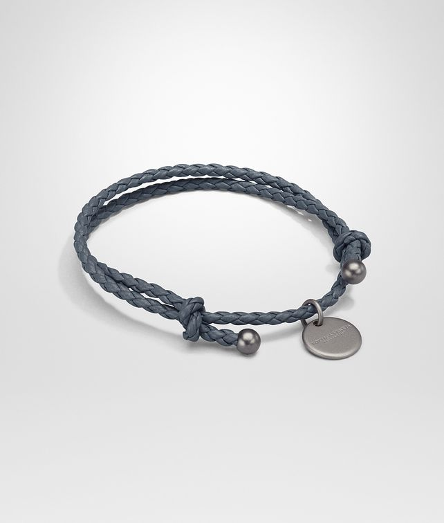 double bottega for bracelet in metallic lyst veneta silver product intrecciato men jewelry