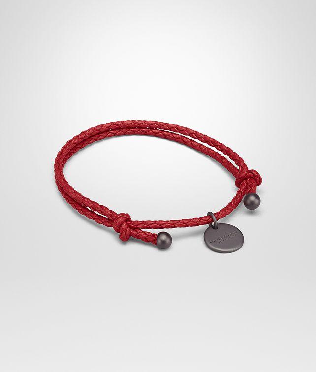 Bottega Veneta Bracelet In China Red Intrecciato Na Leather Keyring Or Bracelets E Fp