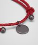 BOTTEGA VENETA BRACELET IN CHINA RED INTRECCIATO NAPPA Keyring or Bracelets E ap