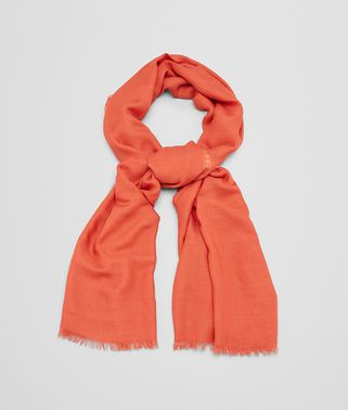 SCARF IN FLAME WOOL SILK CASHMERE