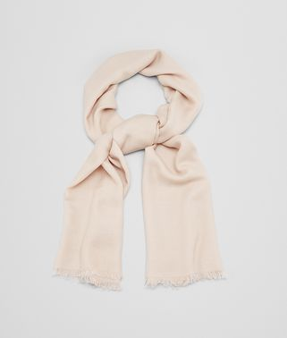 SCARF IN BEIGE WOOL SILK CASHMERE
