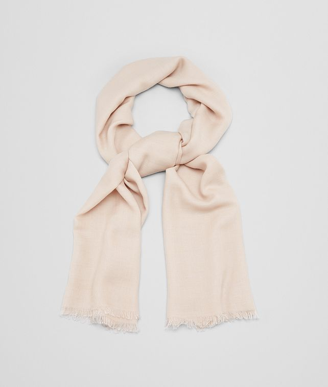 BOTTEGA VENETA SCARF IN BEIGE WOOL SILK CASHMERE Scarf or other D fp