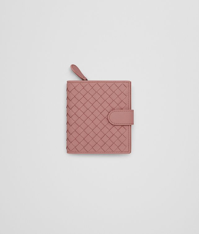 BOTTEGA VENETA MINI WALLET IN BOUDOIR INTRECCIATO NAPPA Mini Wallet or Coin Purse D fp
