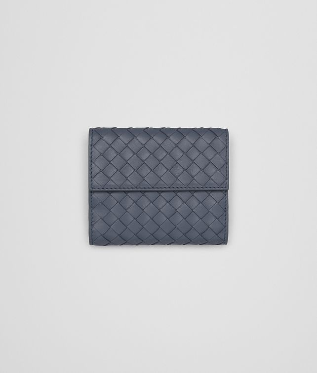 BOTTEGA VENETA MINI WALLET IN KRIM INTRECCIATO NAPPA LEATHER Mini Wallet or Coin Purse D fp