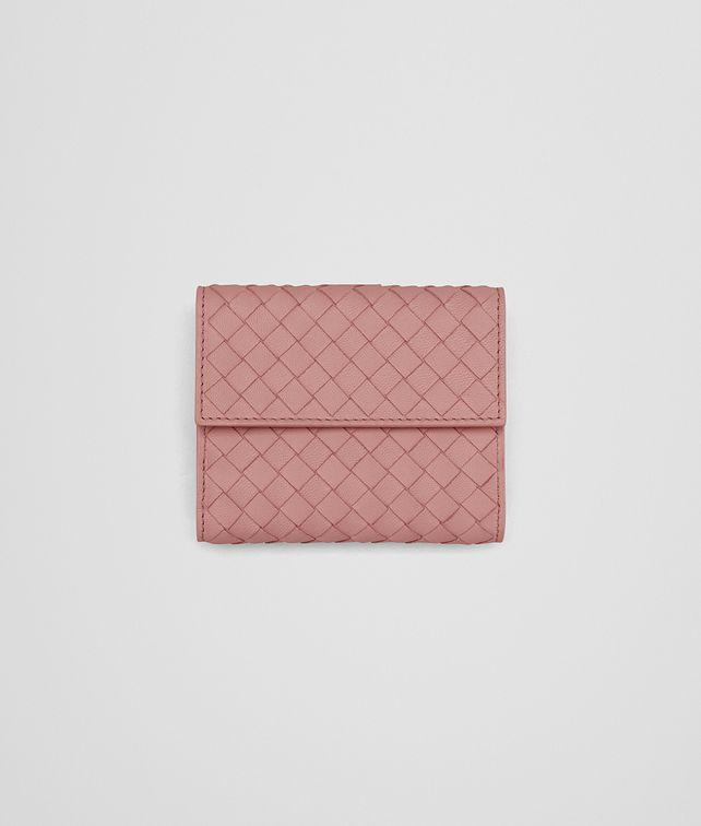 BOTTEGA VENETA MINI WALLET IN BOUDOIR INTRECCIATO NAPPA LEATHER Mini Wallet or Coin Purse D fp
