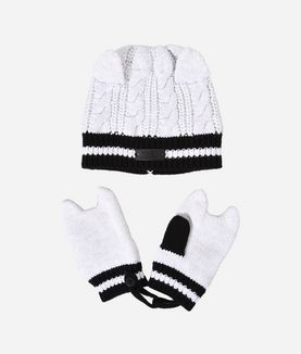 KARL LAGERFELD CAT HAT AND MITTEN SET