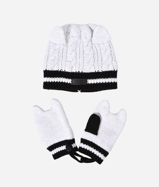 KARL LAGERFELD CAT HAT AND MITTEN SET 12_f