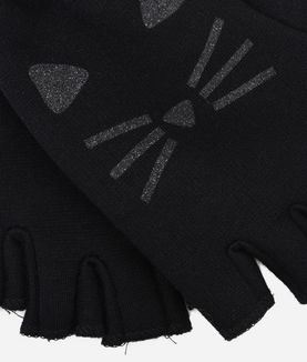KARL LAGERFELD CHOUPETTE FINGERLESS GLOVES