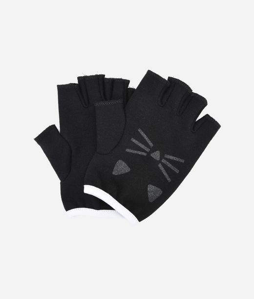 KARL LAGERFELD CHOUPETTE FINGERLESS GLOVES 12_f