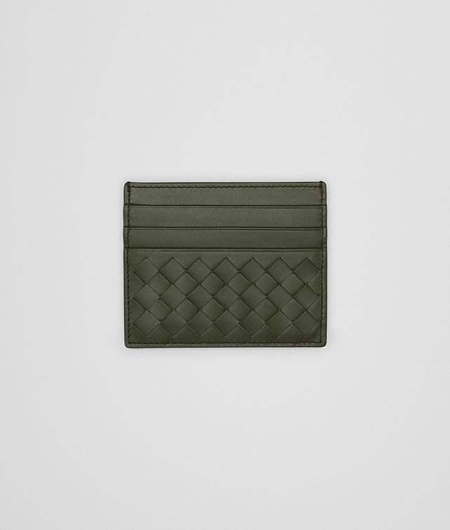 BOTTEGA VENETA CARD CASE IN MOSS INTRECCIATO VN Card Case or Coin Purse E fp