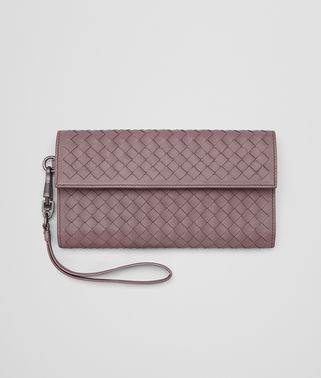 CONTINENTAL WALLET IN GLICINE INTRECCIATO NAPPA LEATHER