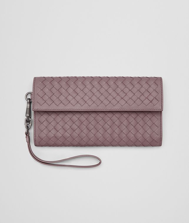BOTTEGA VENETA CONTINENTAL WALLET IN GLICINE INTRECCIATO NAPPA Continental Wallet Woman fp