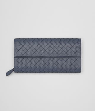 CONTINENTAL WALLET IN KRIM INTRECCIATO NAPPA LEATHER