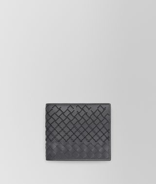 BI-FOLD WALLET IN ARDOISE INTRECCIO AURELIO CALF, EMBROIDERY DETAILS