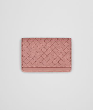 CARD CASE IN BOUDOIR INTRECCIATO NAPPA LEATHER