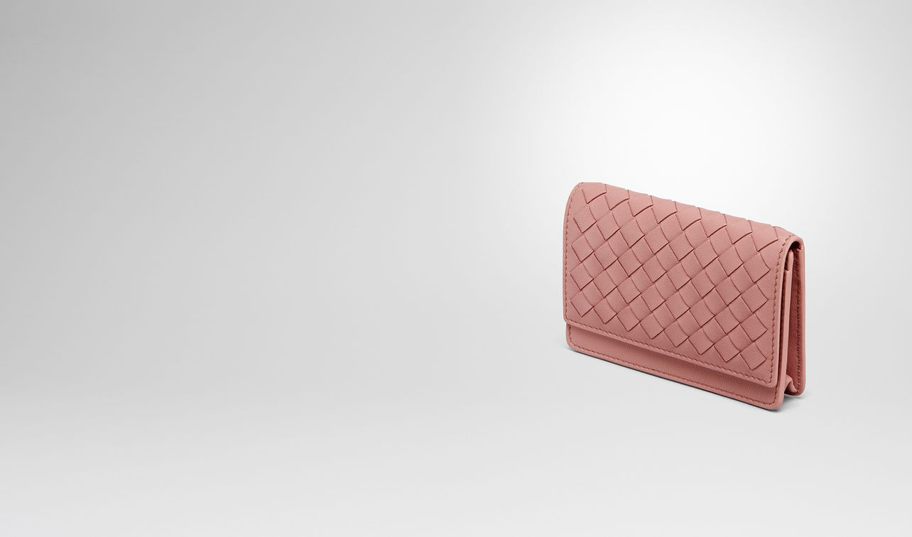 4f7557627107 card case in boudoir intrecciato nappa landing. BOTTEGA VENETA ...