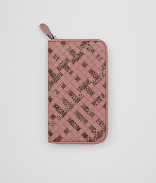 ZIP AROUND WALLET IN BOUDOIR INTRECCIATO NAPPA AND AYERS