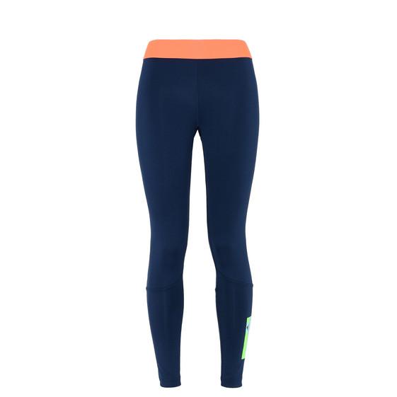 夜靛蓝色长款贴腿裤