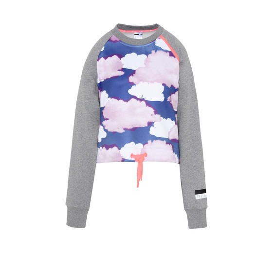 Cloud Print Cropped Sweatshirt