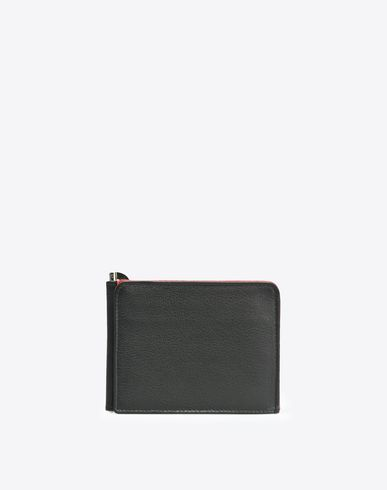 MAISON MARGIELA Wallet U Grained leather credit card holder f