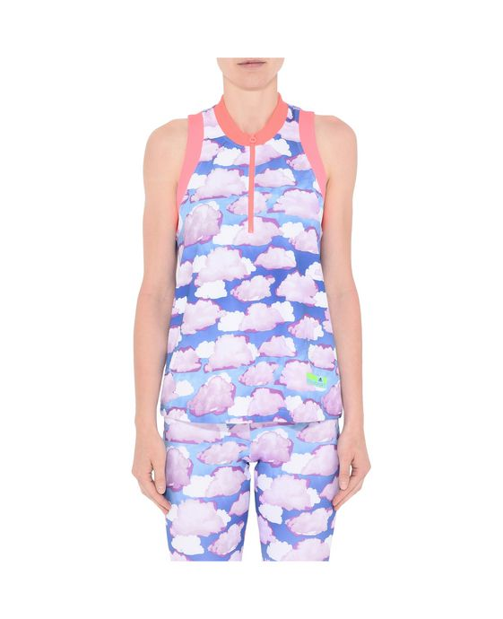 ADIDAS by STELLA McCARTNEY Cloud Print Zipper Top StellaSport Topwear D i