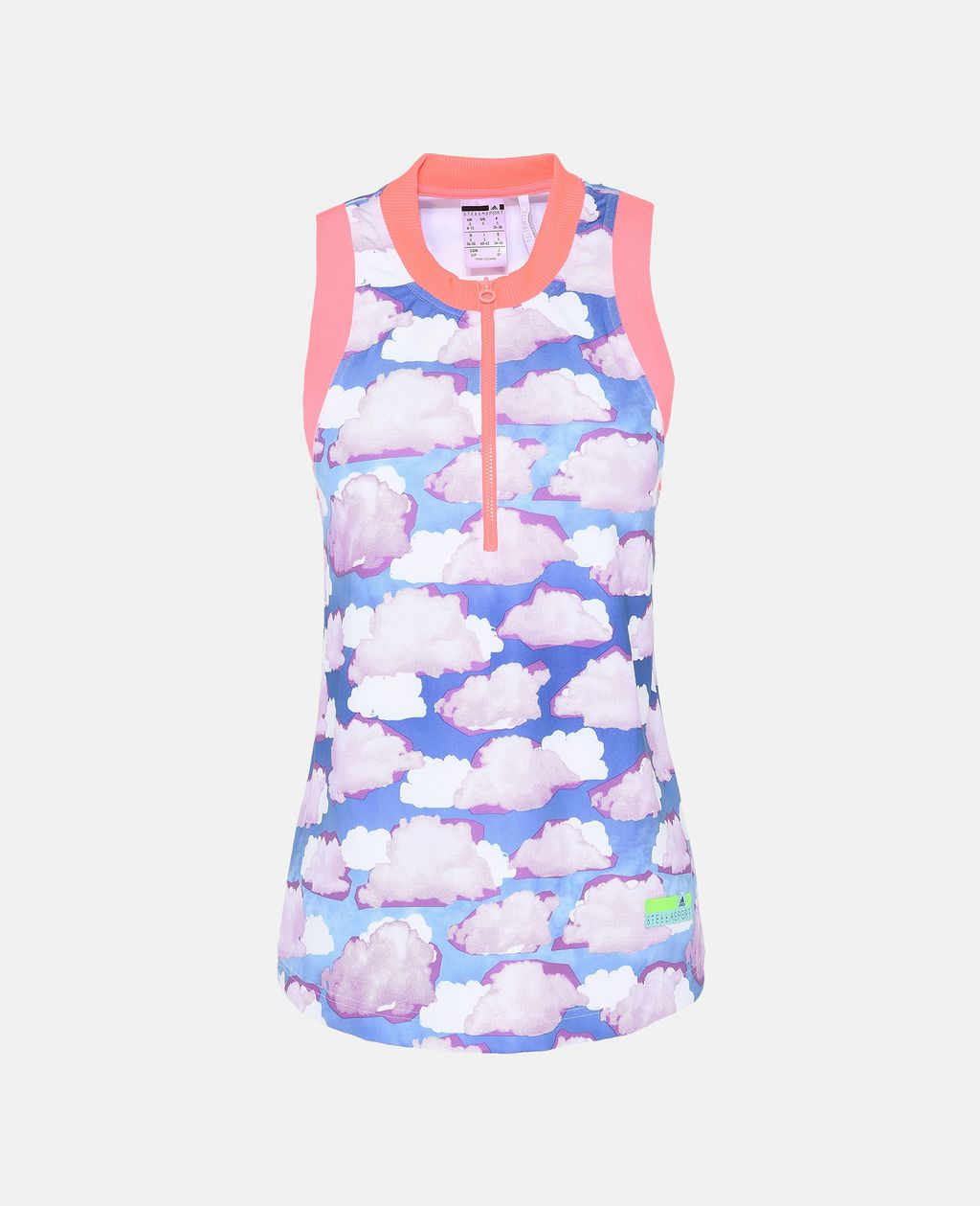 Cloud Print Zipper Top - ADIDAS by STELLA McCARTNEY