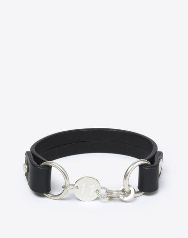 MAISON MARGIELA 11 Bracelet U Calfskin and silver bracelet f