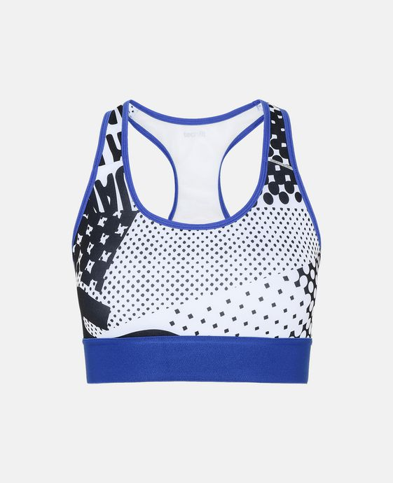 Graphic Print Sports Bra