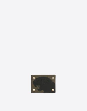 VALENTINO GARAVANI UOMO CARD CASE U Rockstud Badge Holder f